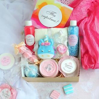 """Подарочный набор """"Единорог"""", подарок для девушки, дочки, племянницы, сестры, крестницы"""