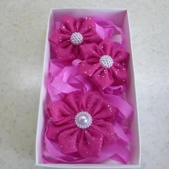 Набор резинок и заколки в подарочной упаковке