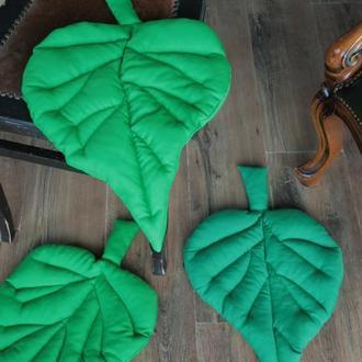 Сиденья на табурет листочки тополя