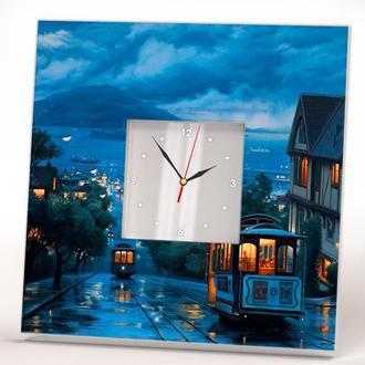 """Интерьерные часы с изображением """"Старый Сан Франциско"""""""