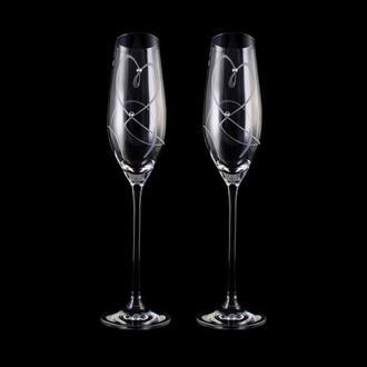 Бокалы для шампанского Swarovski, арт. WG-101