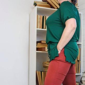 Блуза зелена