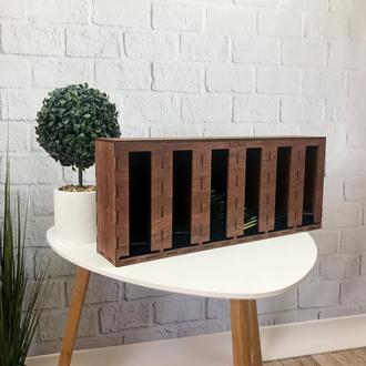Деревянный органайзер для хранения чая с гравировкой