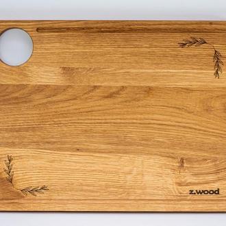 Деревянная разделочная доска  для кухни из  из дуба  40х30, A-9024