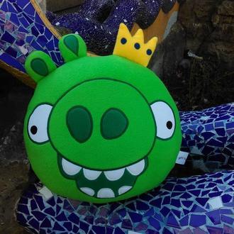 Мягкая игрушка - подушка Король свиней Энгри Бердс Angry Birds