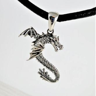 Кулон ′Дракон з крилами′ (срібло)