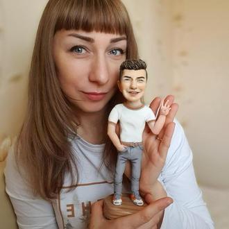 Портретная  статуэтка-шарж  по фото