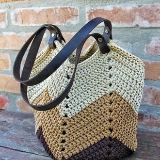 Сумка. Вязаная сумка.Повседневная сумка. Пляжная сумка