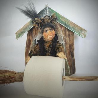 Держатель для туалетной бумаги Баба Яга