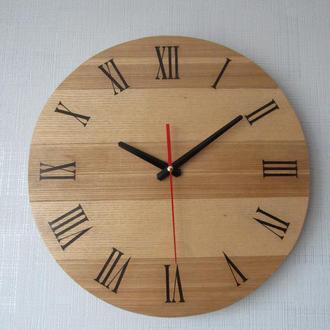Часы настенные деревянные круглые