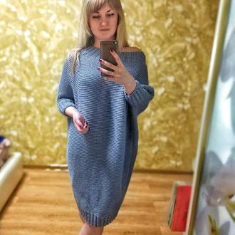 """Вязаное платье """"Летучая мышь"""""""