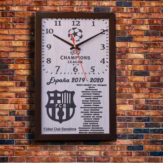 """Настенные часы """" Futbol Club Barcelona"""", индивидуальная работа."""