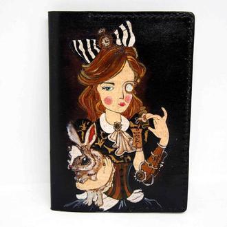 Обложка для паспорта Алиса в стране чудес, подарок девушке, женская обложка на паспорт