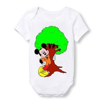 """Детское боди Push IT с принтом из мультфильма """"Микки Маус""""  Микки и дерево"""