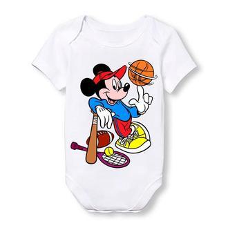 """Дитячий боді Push IT з принтом з мультфільму """"Міккі Маус"""" Міккі спортсмен"""
