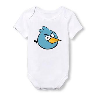 """Дитячий боді Push IT з принтом з мультфільму """"Angry Birds"""" Синій птах"""