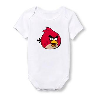 """Дитячий боді Push IT з принтом з мультфільму """"Angry Birds"""" Ред"""