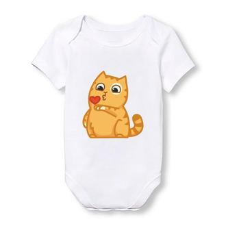 Детское боди Push IT с принтом Кот и воздушное сердце