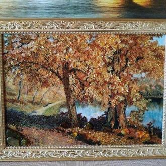 Картина из янтаря пейзаж