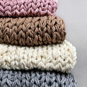 Набор для вязания пледа СДЕЛАЙ САМ (МК+материалы)