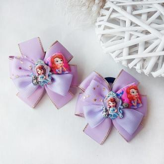 Бантики резинки принцесса София банты для волос резинка для девочек с принцессой