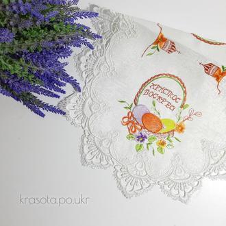 Пасхальна серветка (60×40 см), атлас