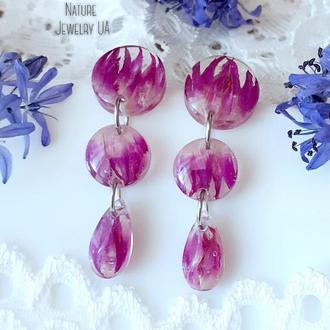 Фиолетовые серьги (модель №057)