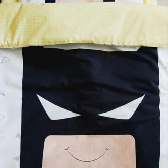 Комплект в кроватку с одеялом и подушкой Batman