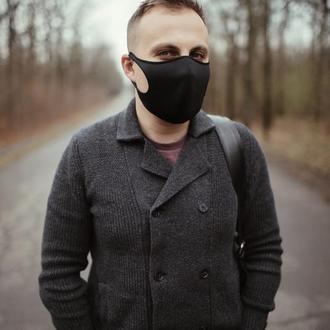 Многразовая маска Питта. Женская маска, черная мужская маска.