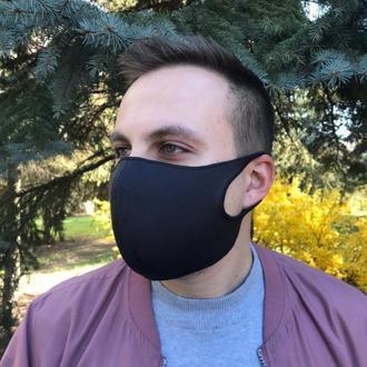 Многразовая маска Питта. Женская маска, Серая мужская маска. Маска из неопрен