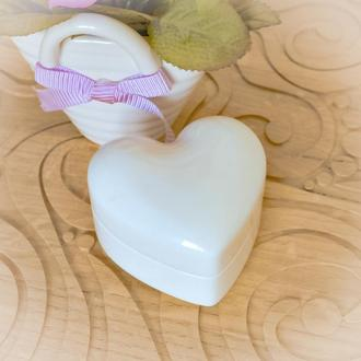 "Футляр ""White Heart""  для кольца, обручального кольца,обручки, каблучки,на свадьбу,на помолвку."