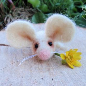 Валяная игрушка Мышонок