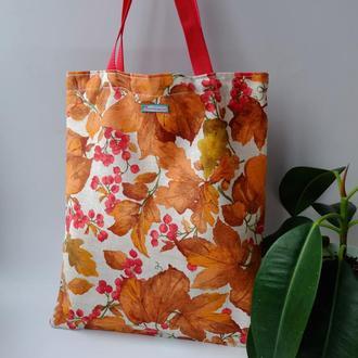 Эко сумка для покупок с смородной, сумка пакет, эко торба, сумка шоппер 46