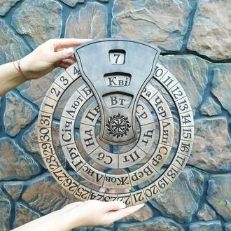 Круглый настенный бесконечный календарь, на любом языке с любым логотипом, надписью