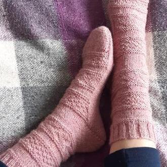 Вязаные носки, шерстяные носки, носки с узором