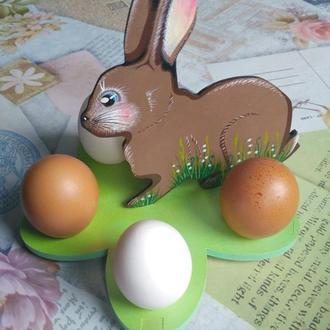 Пасхальная подставка для яиц. Интерьерная подставка для яиц. Подставка под яйцо.