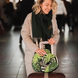 Комплект подушка для путешествий + маска для сна листва, набор для путешествия киев