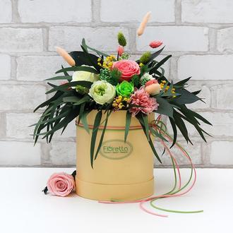 """""""Цветущий сад"""" - живые цветы, неувядающие более 3 лет, размер М"""