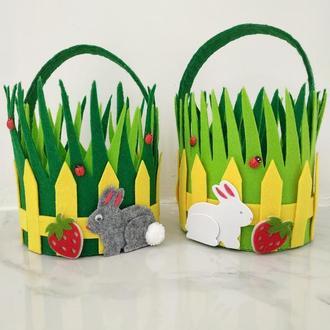 Пасхальная корзина/Корзина на Пасху из фетра/Easter basket