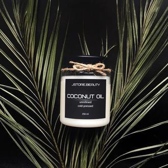 Нерафинированное кокосовое масло холодного отжима