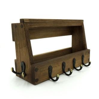 """Ключниця дерев'яна """"Бран"""" капучіно"""