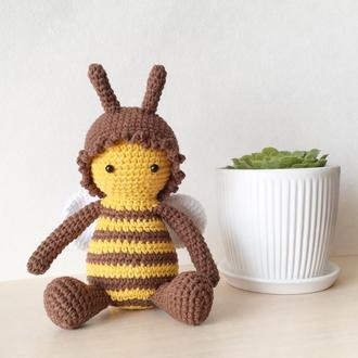 Пчелка вязаная игрушка пчела