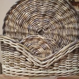 плетеные подставки под чашки и тарелки, короб для хранения