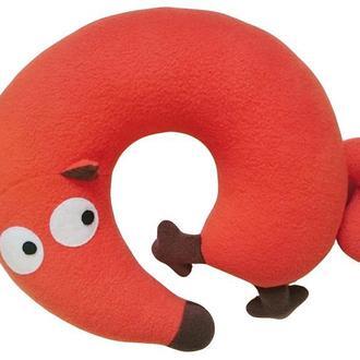 Подушка подголовник туристическая под шею  и игрушка Silenta Лисичка
