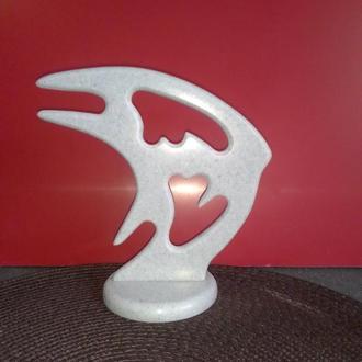 Фігурка, статуетка РИБА Скалярія Штучний камінь