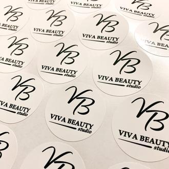 А4 Наклейки для упаковки с логотипом, благодарностью, информацией