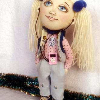 Текстильная куколка Кэт