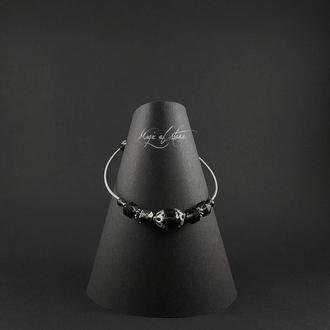 Браслет из раухтопаза и серебра 925 пр.