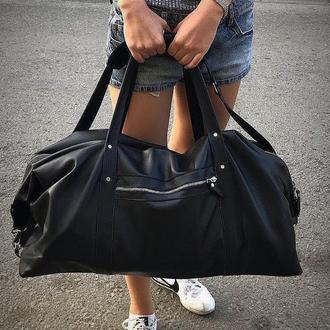 Дорожная сумка из натуральной кожи ( спортивная сумка)
