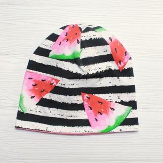 Детская трикотажная шапочка для девочки